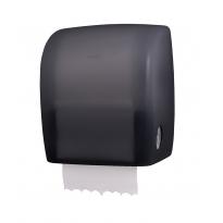 PlastiQline Exclusive handdoekroldispenser transparant zwart PQXAutZ