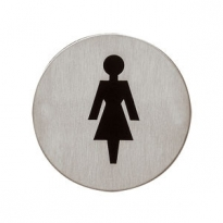 Pictogram damestoilet zelfklevend rond
