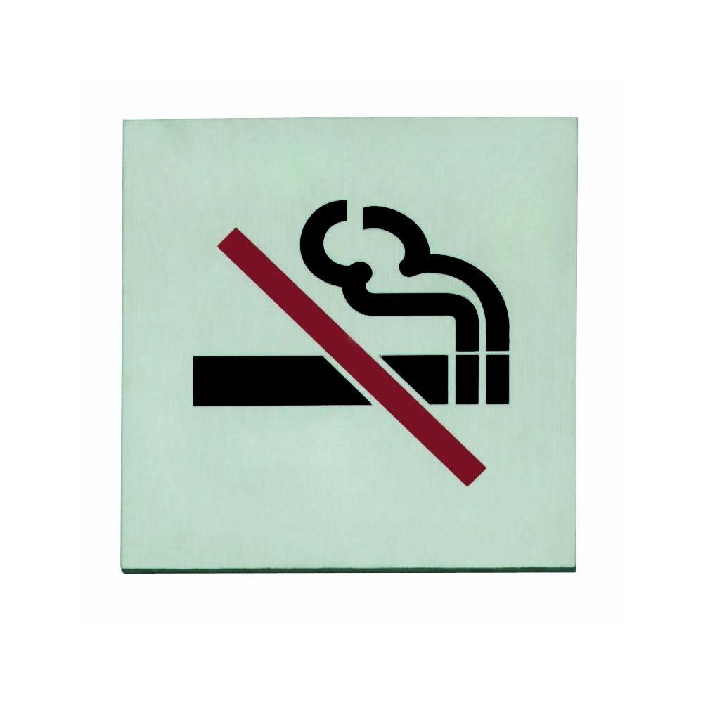 Pictogram zelfklevend vierkant 76x76 rookverbod RVS