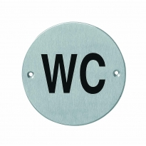 Pictogram rond WC RVS