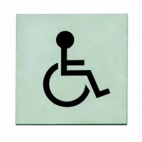 Pictogram toilet mindervalide zelfklevend