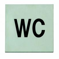 Pictogram toilet zelfklevend vierkant
