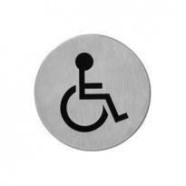 Pictogram toilet mindervalide zelfklevend rond