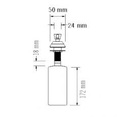 Mediclinics zeeppomp RVS hoogglans 480ml DJ0121C